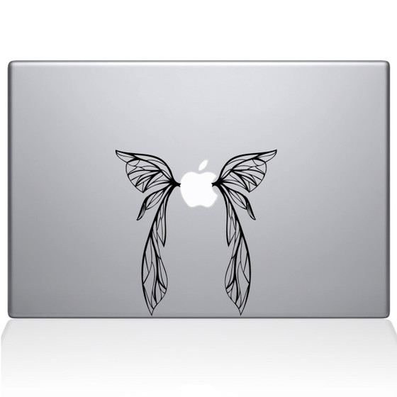 Fairy Wings Macbook Decal Sticker Black