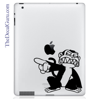 Evil Monkey iPad Decal