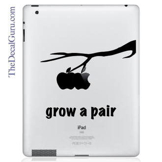 Grow a Pair iPad Decal