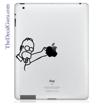 Homer Simpson Reach iPad Decal