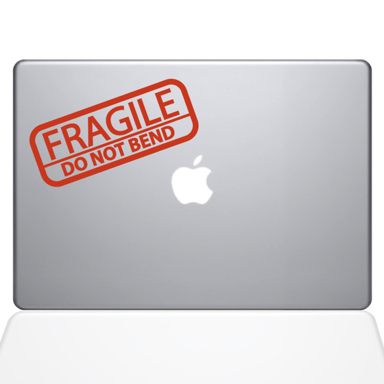 Fragile Sticker Macbook Decal Sticker Orange