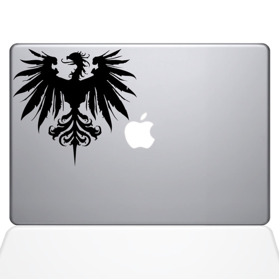 Vulture Crest Macbook Decal Sticker Black