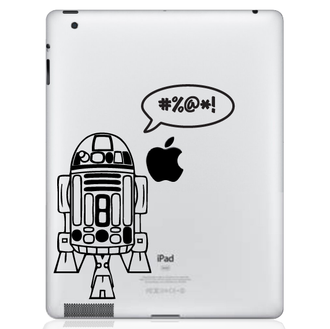 R2D2 iPad Decal Sticker