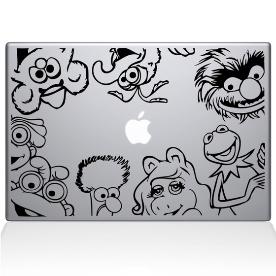 Muppets Macbook Decal Sticker Black