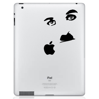 Charlie Chaplin iPad Decal sticker