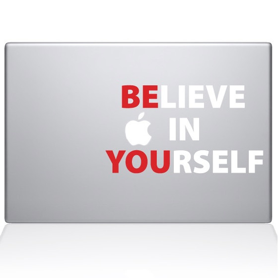 Believe In Yourself Macbook Decal Sticker Silver