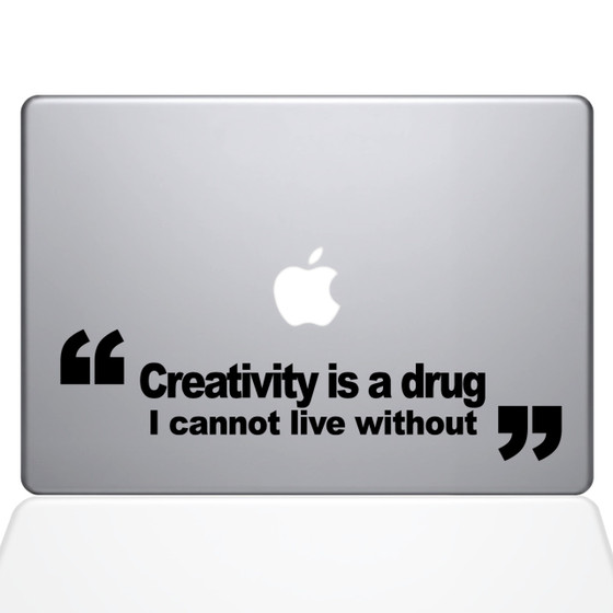 Creativity Is A Drug Macbook Decal Sticker Black