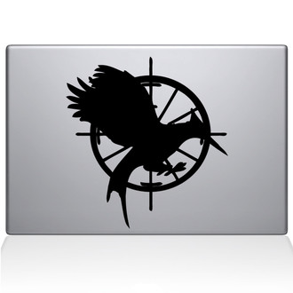 Hunger Games Catching Fire Macbook Decal Sticker Black