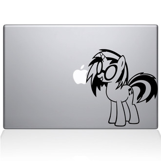 My Little Pony Goth Macbook Decal Sticker Black