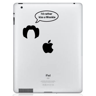 I'd Rather Kiss A Wookie iPad Decal sticker