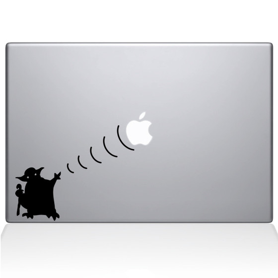 Yoda Star Wars Macbook Decal Sticker Black
