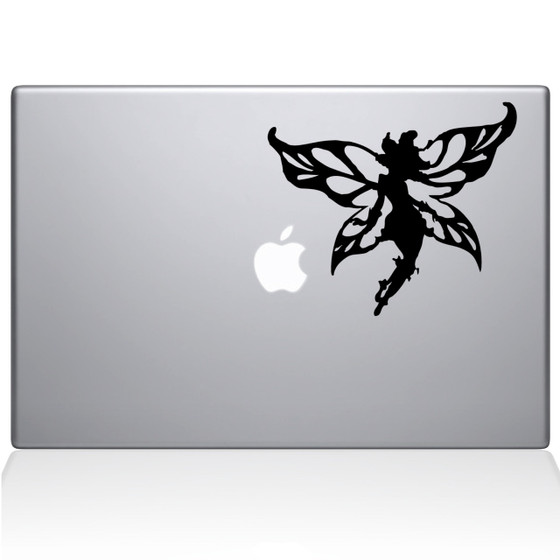 Winged Fairy Macbook Decal Sticker Black