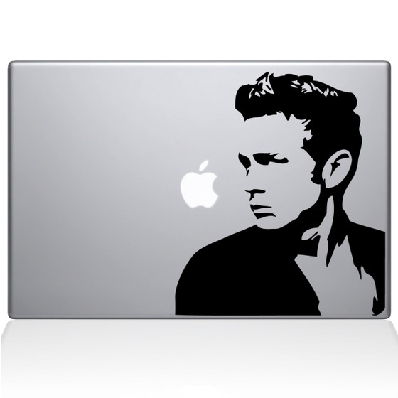 James Dean Profile Macbook Decal Sticker Black