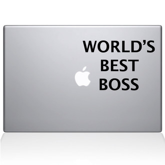 World's Best Boss Macbook Decal Sticker Black
