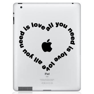 All You Need Is Love Heart iPad Decal Sticker