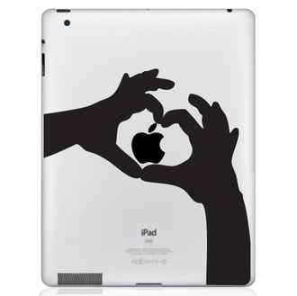 Love Heart Hands iPad Decal Sticker