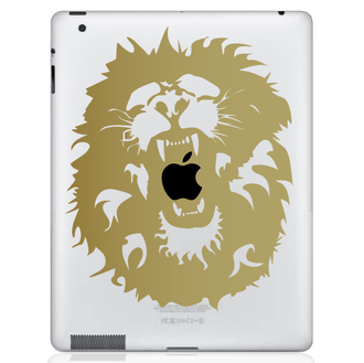 Roaring Lion iPad Decal Sticker