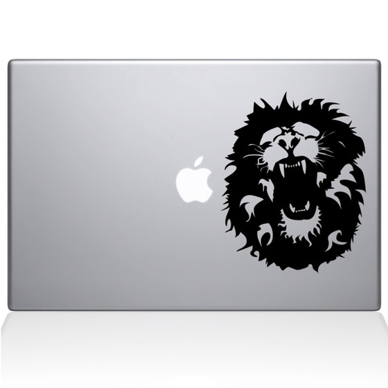 Roaring Lion Macbook Decal Sticker Black