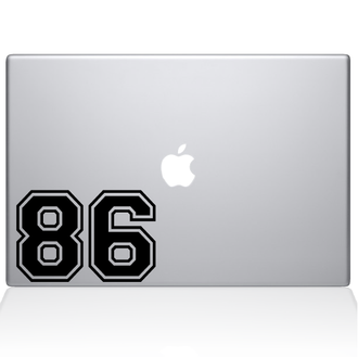 Football Numbers Macbook Decal