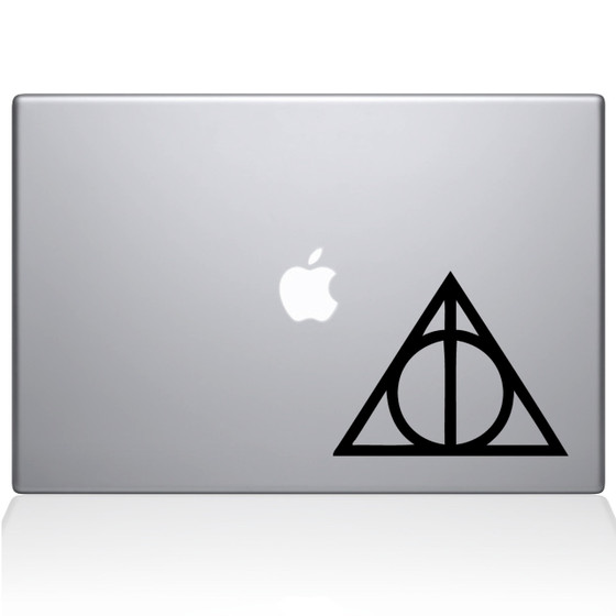 Harry Potter Deathly Hallows Macbook Decal Sticker Black