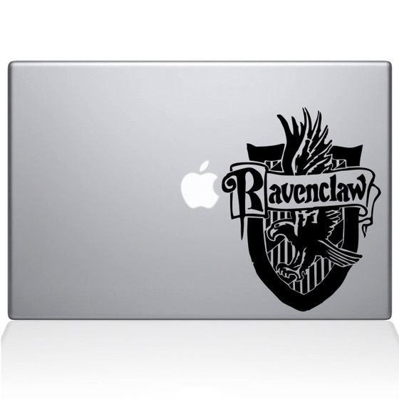 Ravenclaw Crest Macbook Decal Sticker Black