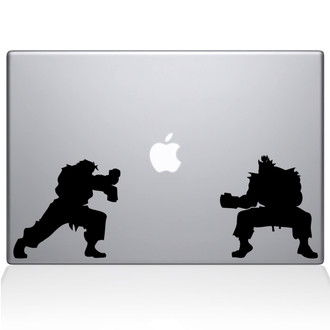 Street Fighter Macbook Decal Sticker Black