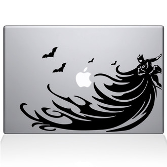 Batman Super Cape Macbook Decal Sticker Black