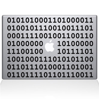 Binary Macbook Decal Sticker Black