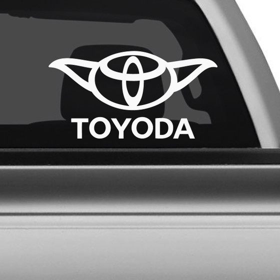 Toyota yoda star wars car decal the decal guru