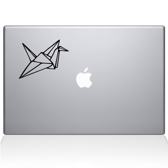 Paper Crane Macbook Decal Sticker Black
