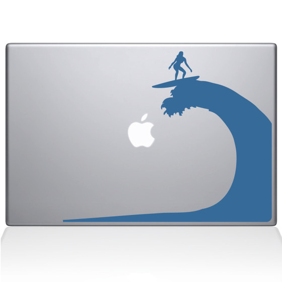 Big Wave Macbook Decal Sticker Light Blue