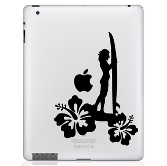 Surfer Girl iPad Decal