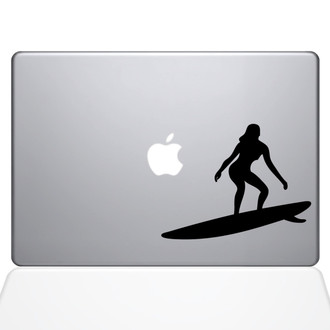Catching Some Waves Macbook Decal Sticker Black