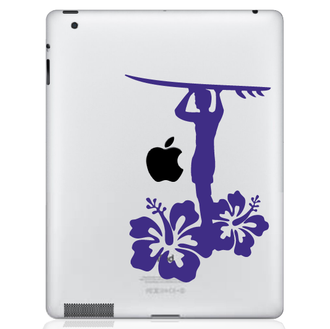 Surfer Guy iPad Decal