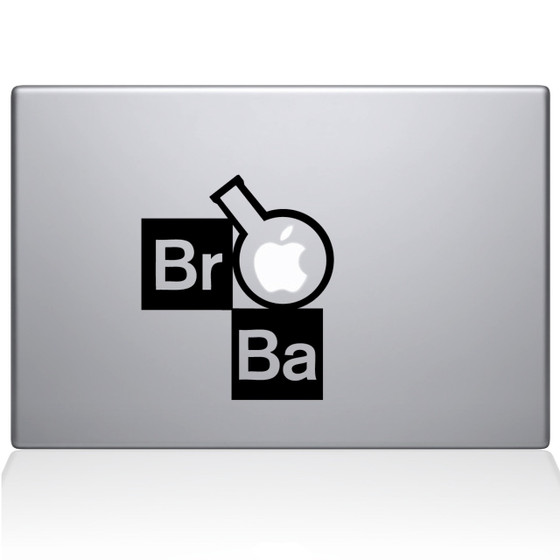 Breaking Bad Flask Macbook Decal Sticker Black
