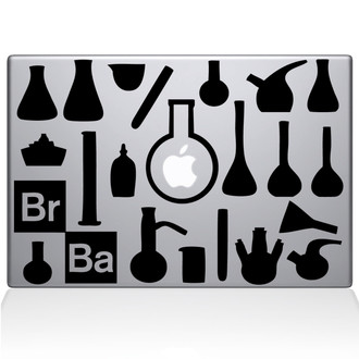 Breaking Bad Walters Lab Macbook Decal Sticker Black