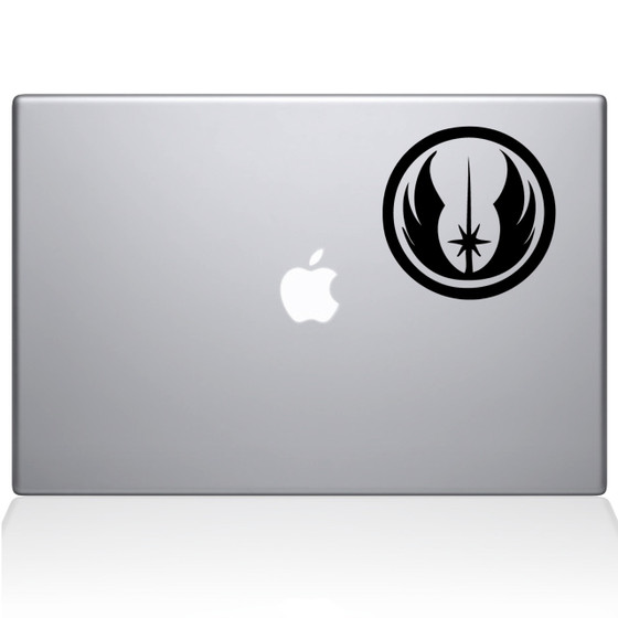 Jedi Order Macbook Decal Sticker Black