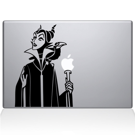 Maleficent Sleeping Beauty Macbook Decal Sticker Black