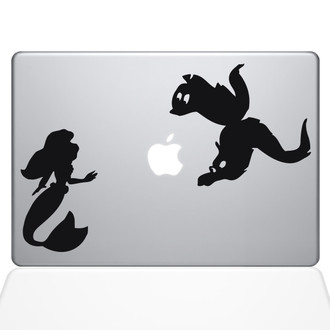 Little Mermaid Eels Macbook Decal Sticker Black