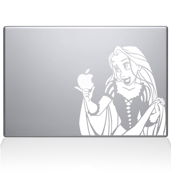 Tangled Rapunzel Macbook Decal Sticker White