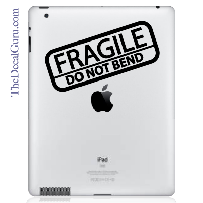 Fragile iPad Decal