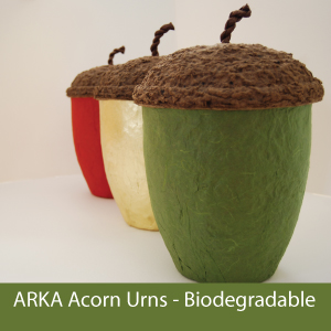 the Original Biodegradable Acorn Urn