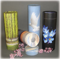 Paper Scattering Tube Urns