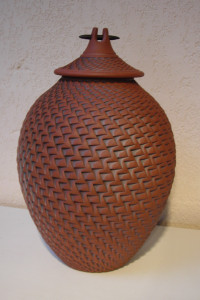 Temple Jar with Reed and Plug - Tall AVAILABLE NOW  11 x 6 - FULL SIZE URN $595.00