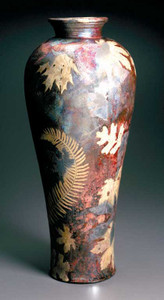 Tall Leaf-Print Amphora CALL FOR AVAILABILITY