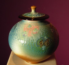 Round Lidded Jar #1 AVAILABLE NOW  $349.00 (Note: Tall Lidded Jar #2 photo has more accurate color)