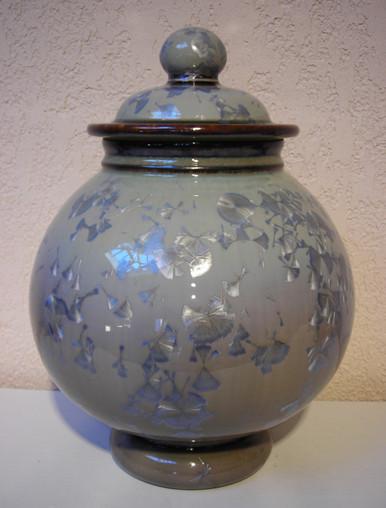 Grey Mist Crystalline Urn Apprx 225 ci  $895.00
