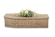 """Traditional Shape, Weatherbeaten Gold Willow Colors Available: 36"""" - Cream bands and Handles"""