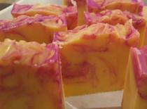 Lemonberry Raspberry Goats Milk Soap