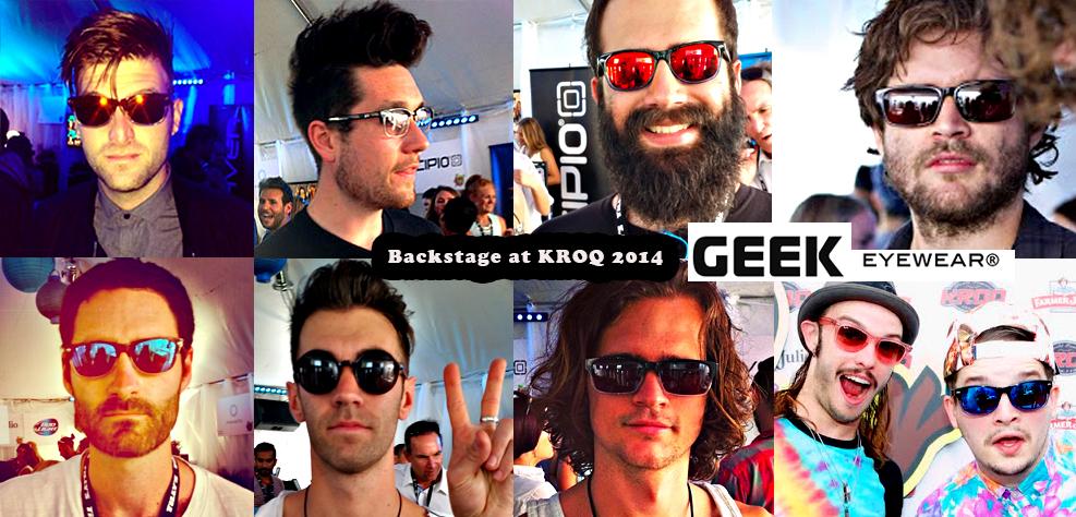 Geek Eyewear Backstage Musicians at KROQ